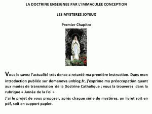 CONFERENCE VIDEO : La Doctrine Chrétienne Catholique Enseignée par l'Immaculée Conception dans ANNEE DE LA FOI - PORTA FIDEI 1-300x224